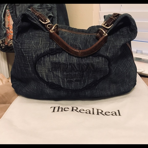 df45566c76ec Authentic Prada Denim Tote. M_5cbe60c529f030603702db10